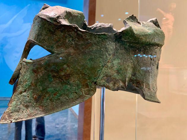 Η περικεφαλαία του Μιλτιάδη στο Αρχαιολογικό Μουσείο