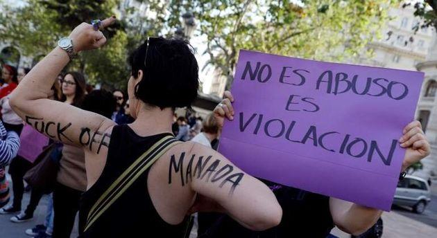 Manifestación contra la sentencia de La