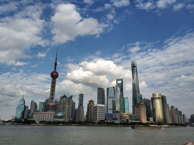 The skyline of Shanghai, China. I feel respected as a teacher