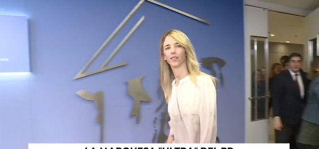 Cayetana Álvarez de Toledo en la pieza de Antena