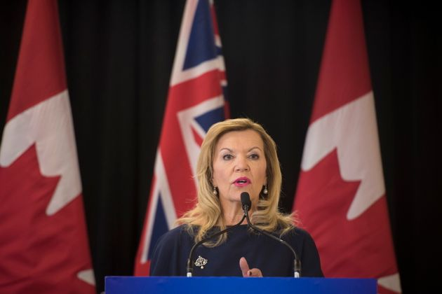 Minister of Health Christine Elliott makes an announcement in Toronto on Feb. 26,