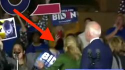 Jill Biden Jumps To Joe's Rescue When Protester Charges