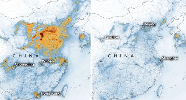NASA: Ο κορονοϊός μείωσε δραστικά την ατμοσφαιρική ρύπανση στην