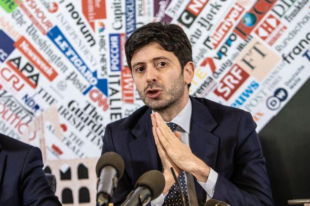 ROME, ITALY - 2020/02/27: Italian Minister of Health Roberto Speranza looks on during the Coronavirus...