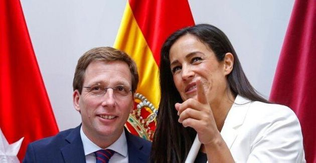 José Luis Martínez Almeida del PP y la vicealcaldesa, Begoña Villacís de