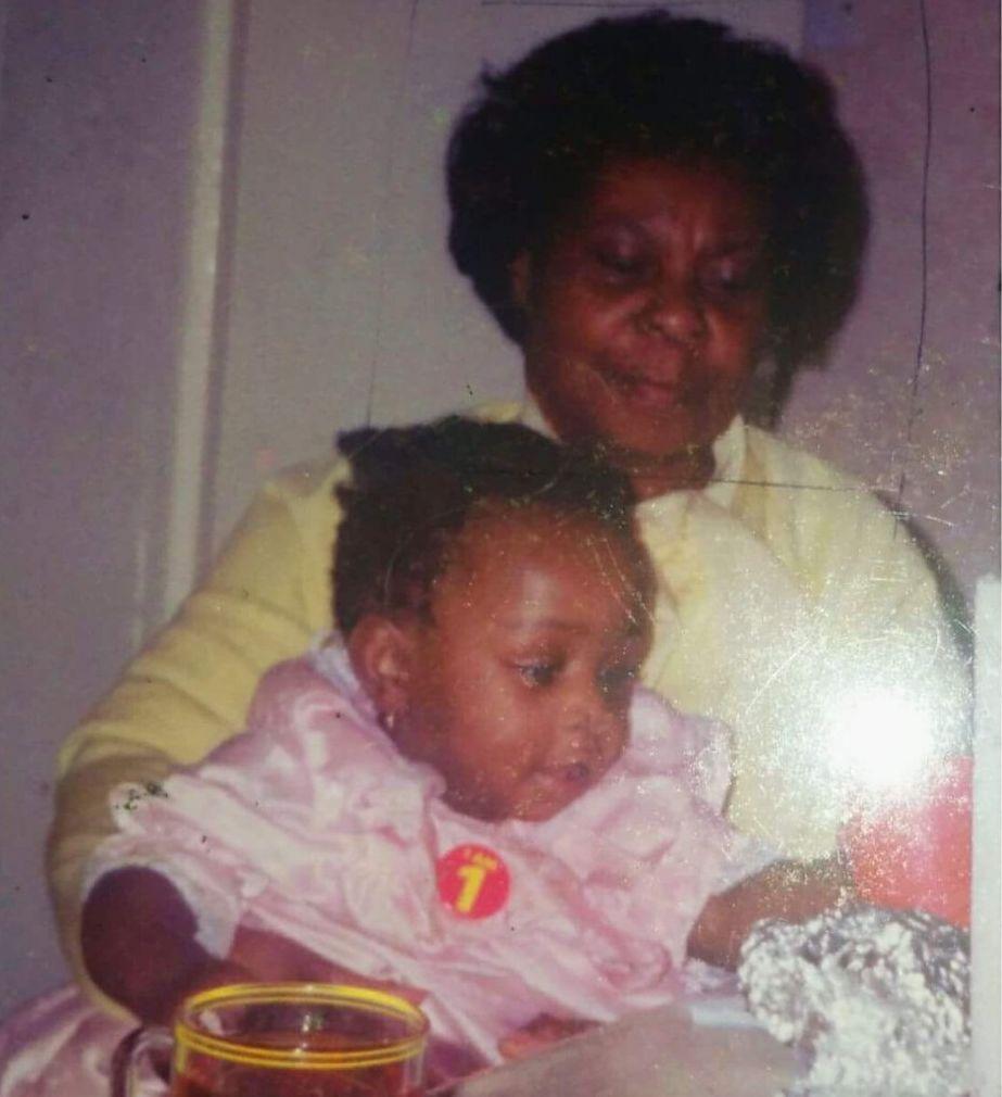 Nana and Nadine, on her first birthday.