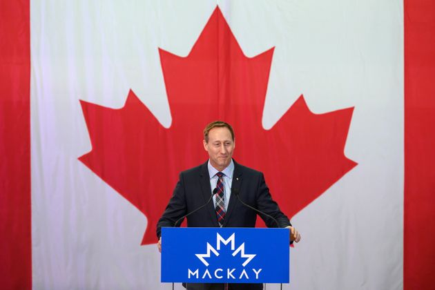 Peter MacKay speaks to a crowd of supporters during an event to officially launch his campaign for leader...