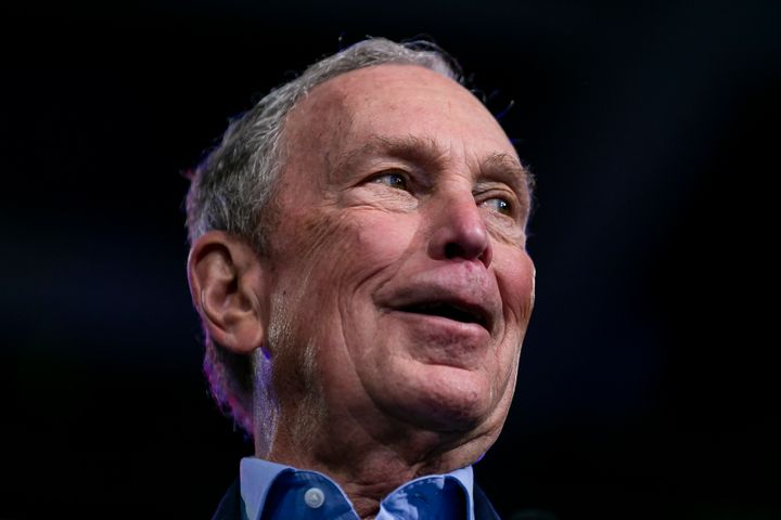 Democratic presidential candidate Mike Bloomberg