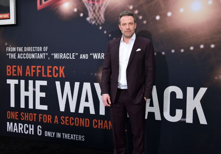 """Ben Affleck attends the premiere of his new film """"The Way Back."""""""