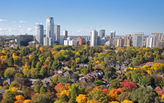 In this stock photo, an aerial view of condo and apartment towers in Toronto's Midtown neighbourhood...