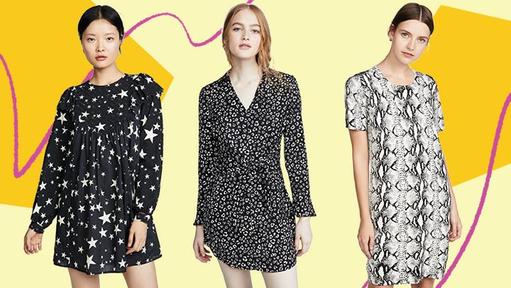 If you're tired of all the floral dresses out there, don't worry — we found all kinds of printed dresses that aren't flowery.