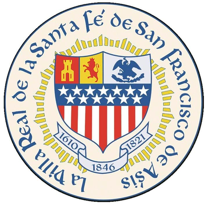 An accent mark of the official seal of the capital city of the nation's most Hispanic state is in the wrong spot.
