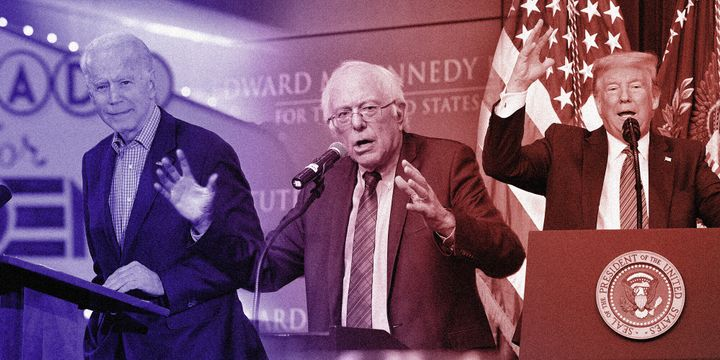 Vermont Sen. Bernie Sanders and former Vice President Joe Biden are vying for the opportunity to take on President Donald Tru