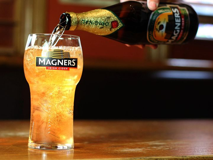 Magners is known as Bulmers in Ireland.