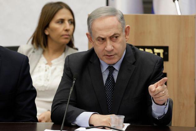 Benjamin Natanyahu lors de la conférence de presse sur les mesures israéliennes contre...