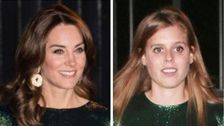Kate Middleton Und Prinzessin Beatrice Identisch Aussehen In Schimmerndem Grün Kleider