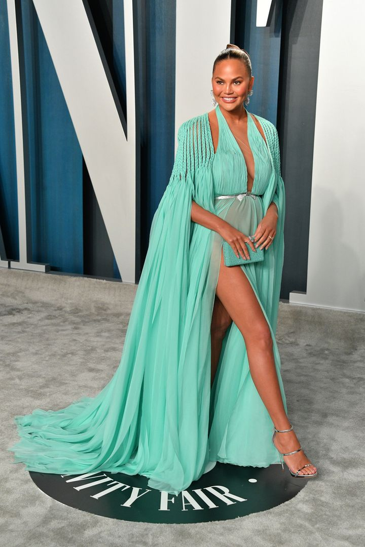 Chrissy Teigen attends the 2020 Vanity Fair Oscar party hosted by Radhika Jones on Feb. 9 in Beverly Hills.