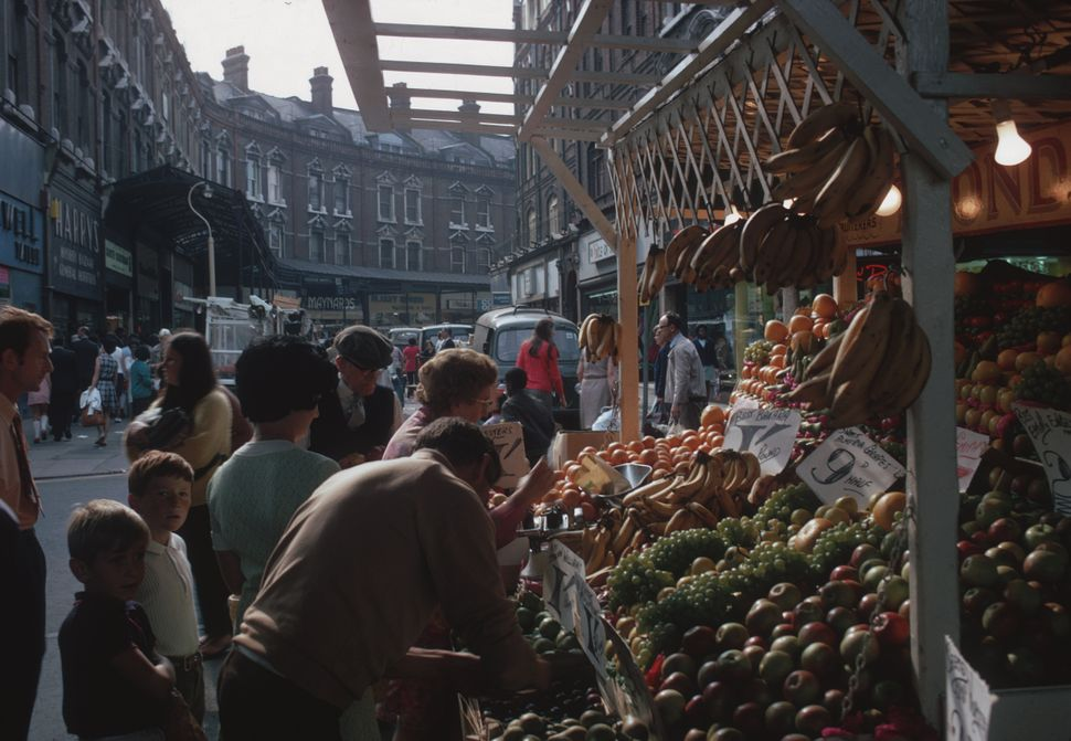 Brixton market in the 1970s.