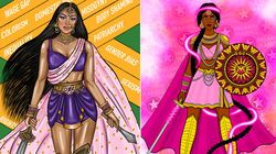 This South Asian Superwoman Art Series Is A 'Visual Love Letter' To Brown Women Around The