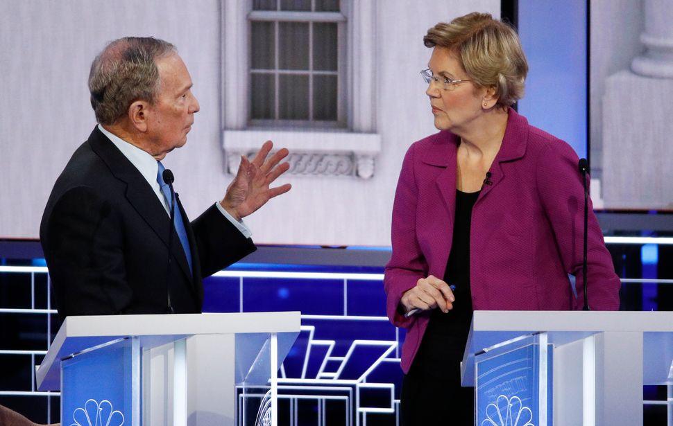 Sen. Elizabeth Warren eviscerated former New York Mayor Mike Bloomberg at his first Democratic presidential debate, going aft