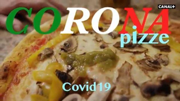 프랑스 민영 방송이 내보낸 '코로나 피자' 개그의 한