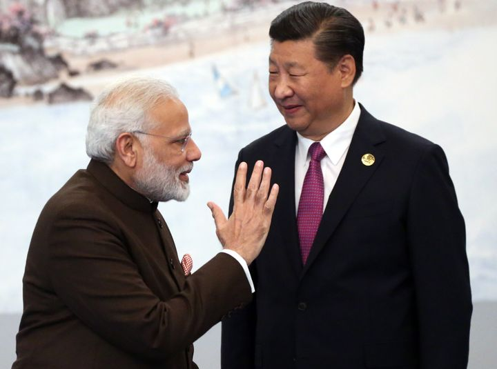Prime Minister Narendra Modi and Chinese President Xi Jinping on September 4, 2017 in Xiamen, China.