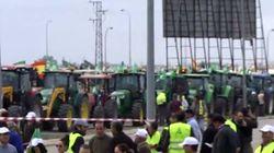 Una tractorada colapsa Huelva ante la