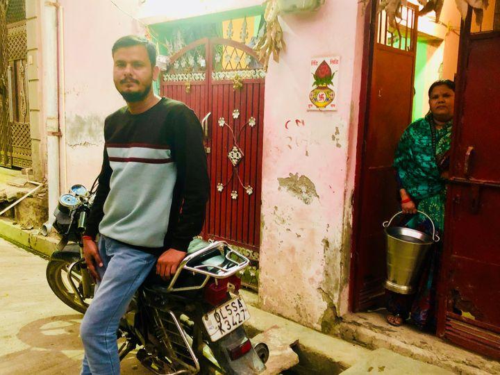 Ravi Parashar at his home in northeast Delhi.