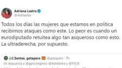 La reacción de Pedro Sánchez al ver el tuit que ha recibido Adriana Lastra: