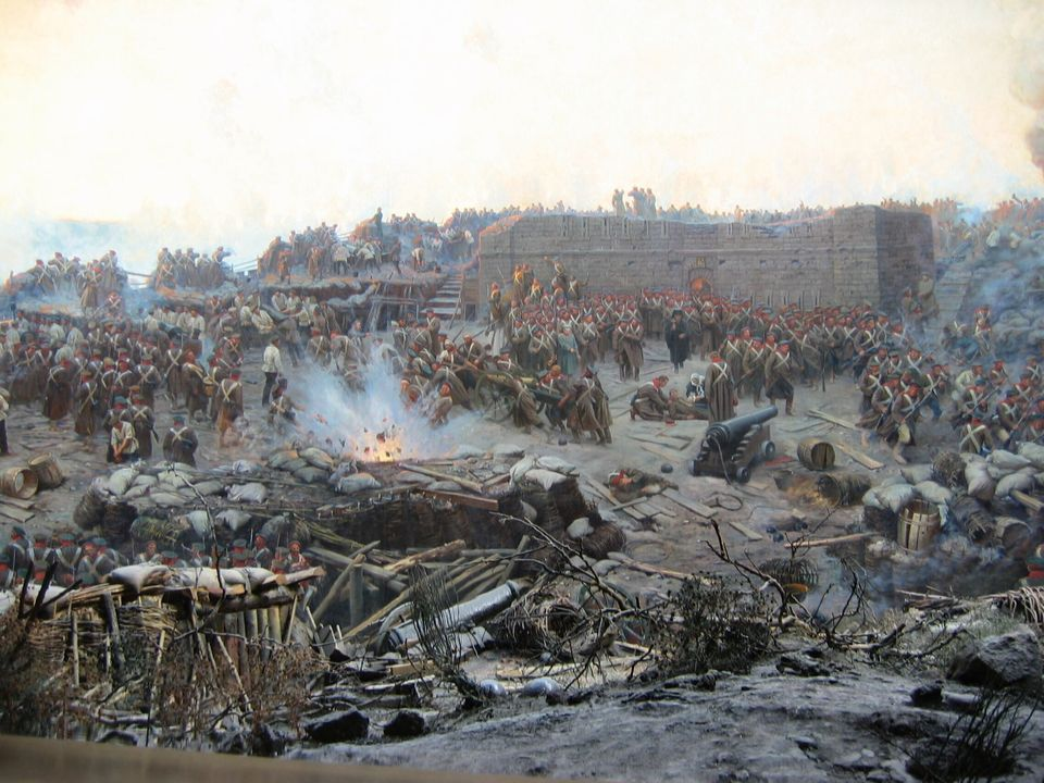 Από τον πίνακα του Φραντς Ρουμπώ Η Πολιορκία της Σεβαστούπολης
