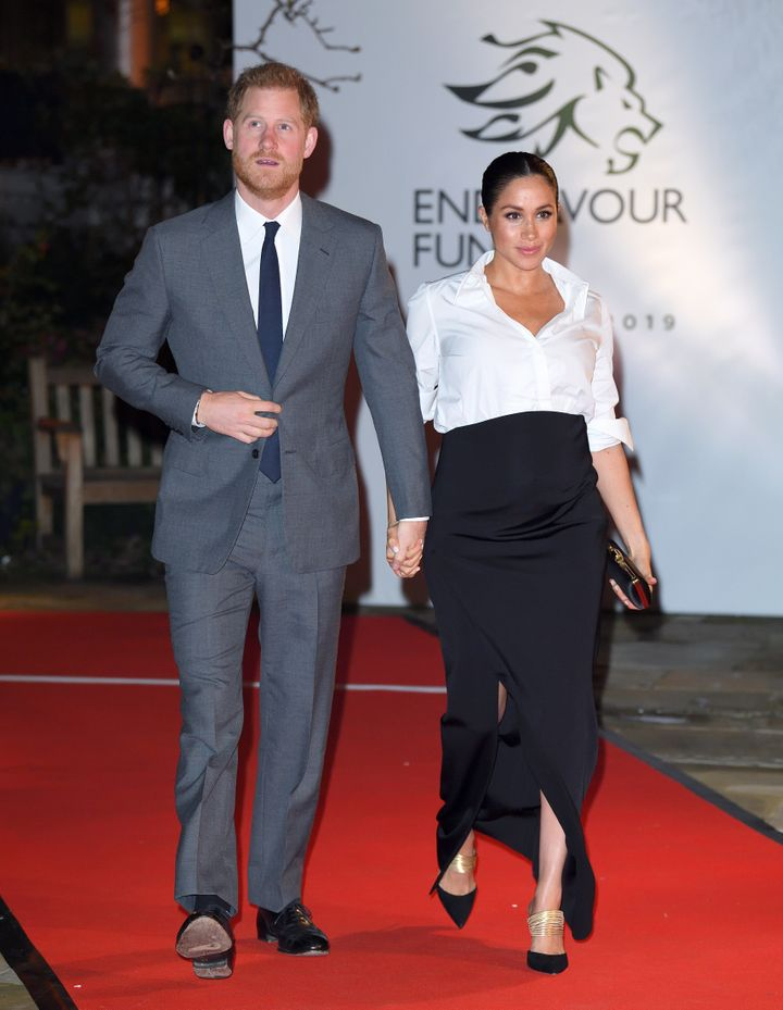 The Duke and Duchess of Sussex attend last year's Endeavour Fund Awards at Drapers Hall in London.