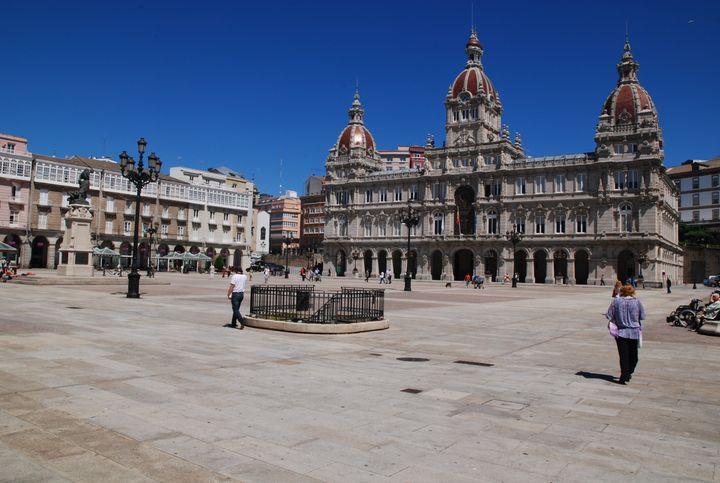 La plaza de María Pita, en A Coruña.