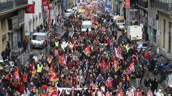 Quelques milliers de manifestants en France pour le retrait de la réforme des
