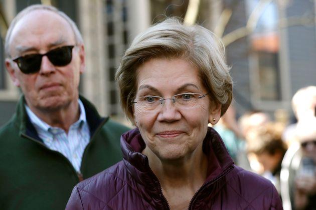 Elizabeth Warren, le 5 mars dans le Massachusetts, après l'annonce de son abandon eux primaires