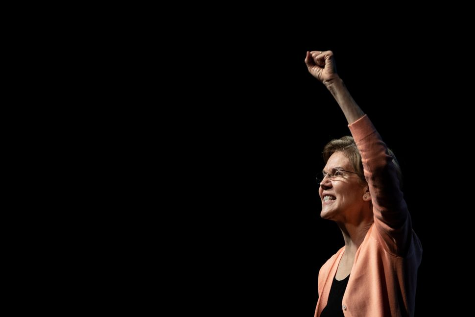 Sen. Elizabeth Warren (D-Mass.) speaks during a campaign rally at the Charleston Music Hall on Feb. 26, a few days before the