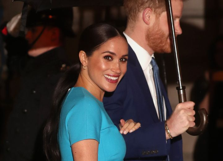Meghan Markle and Prince Harry at the Endeavour Fund Awards on Thursday, March 5, 2020.
