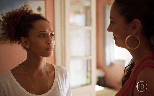 Thaís Araújo (Vitória) e Clarissa Pinheiro (Penha) em cena de