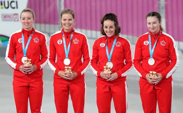 左から:エリン・アトウェル、ミリアム・ブラウアー、マギー・コールズ・リスター、カナダのローリー・ジュサウメ