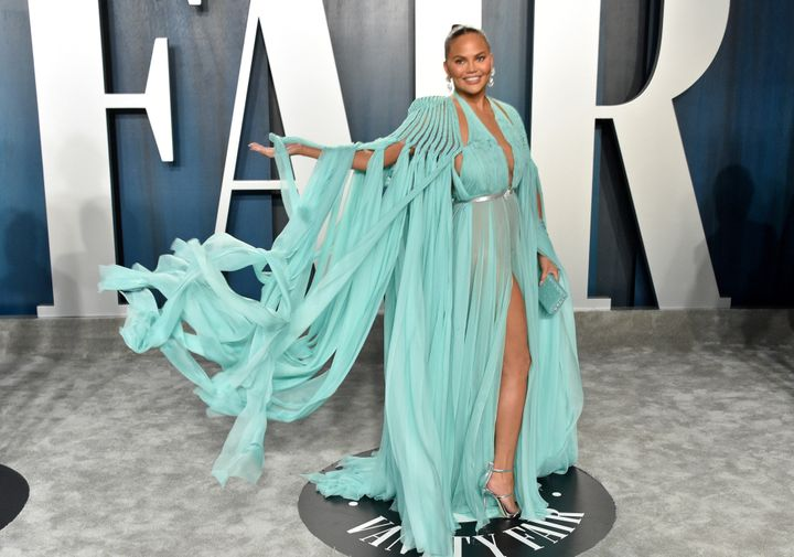 Chrissy Teigen attends the 2020 Vanity Fair Oscar Party in Beverly Hills.