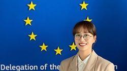 임현주 아나운서가 EU·UN의 '세계 여성의 날' 캠페인에 한국 대표로