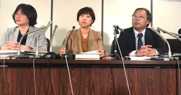 東京医科大共通義務確認訴訟で記者会見する弁護団