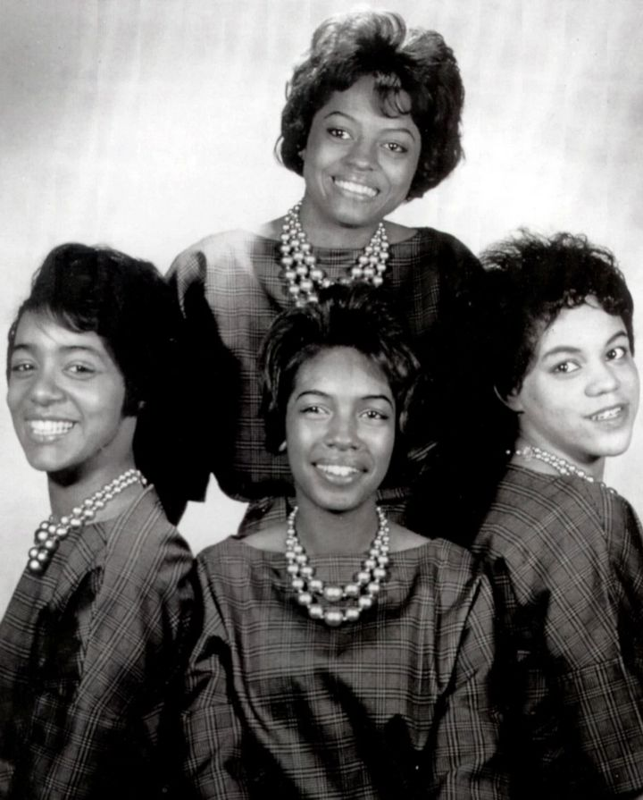 Barbara Martin (left) with The Supremes