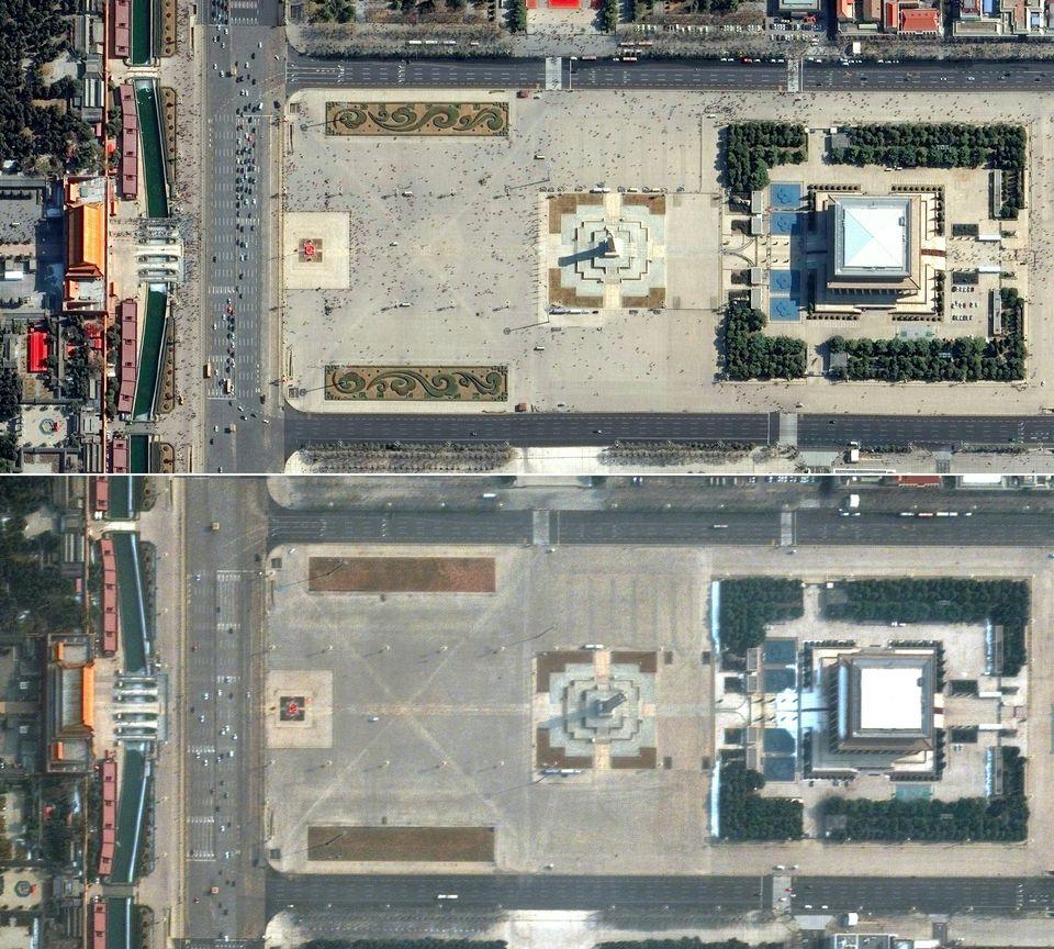 Coronavirus: ces vues aériennes de sites célèbres désertés montrent l'impact de