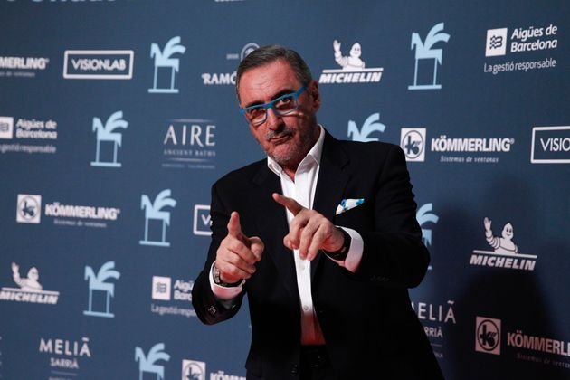 El locutor Carlos Herrera, en los Premios Ondas