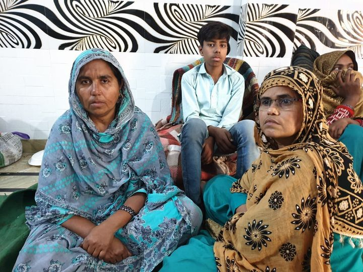 Mumtaz at a relief camp. Her house was burnt and family attacked with acid.