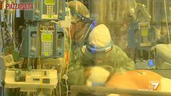 Piazzapulita dentro il reparto di terapia intensiva di