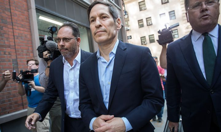 Tom Frieden, former director of the Centers for Disease Control and Prevention, exits Brooklyn Criminal Court following his a