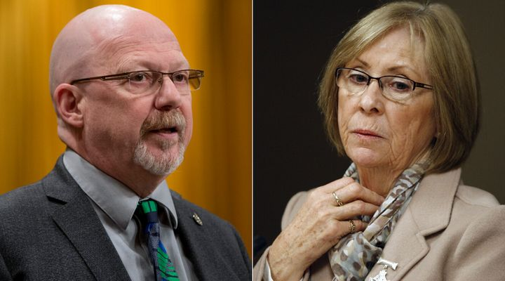 NDP MP Randall Garrison and Sheila Fynes, the mother of late Cpl. Stuart Langridge, are shown in a composite image of photos from The Canadian Press.