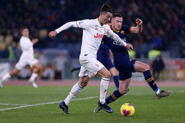 STADIO OLIMPICO, ROMA, ITALY - 2020/01/12: Cristiano Ronaldo of Juventus FC in action during the Serie...