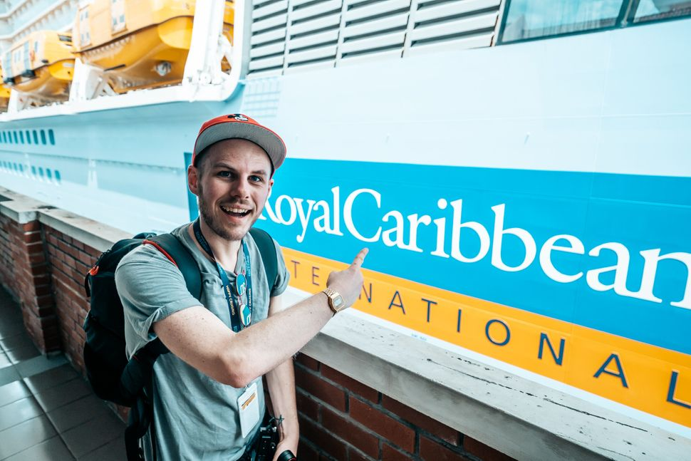 David McDonald (above) and his partner Ben Hewitt have been averaging three or four cruises a year.